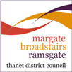 3 towns Thanet District Council logo for margate broadstairs ramsgate