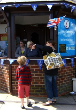 Helping Visitors at Broadstairs Information Kiosk
