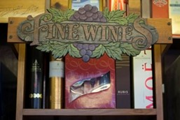 Fine Wines sign